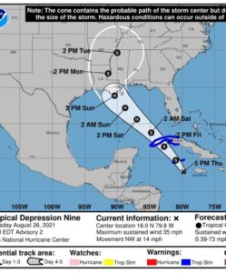 City of Alexandria Braces for Anticipated Hurricane Ida Sunday